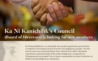 Ka Ni Kanichihk's Council (Board of Directors) is looking for new members